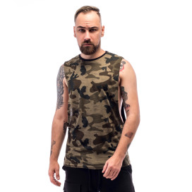 Изображение Майка мужская камуфляж с черным ThePARA