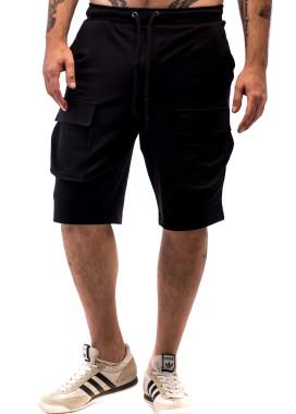 Изображение Шорты мужские с накладными карманами черные ThePARA