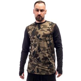 Изображение Лонгслив мужской камуфляжный с черным ThePARA
