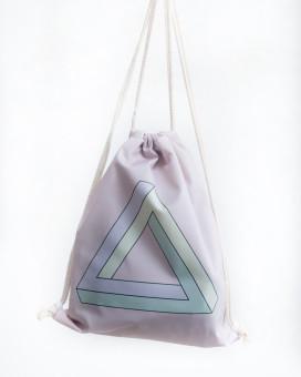 Изображение Рюкзак-мешок розовый Треугольник Leska Prod