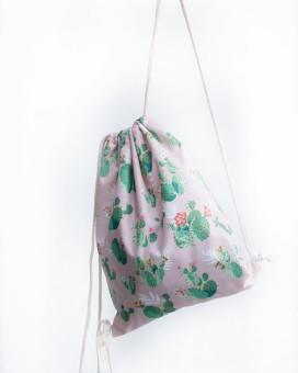 Изображение Рюкзак-мешок розовый Кактусы Leska Prod