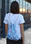 Изображение Рюкзак-мешок белый Перья Leska Prod