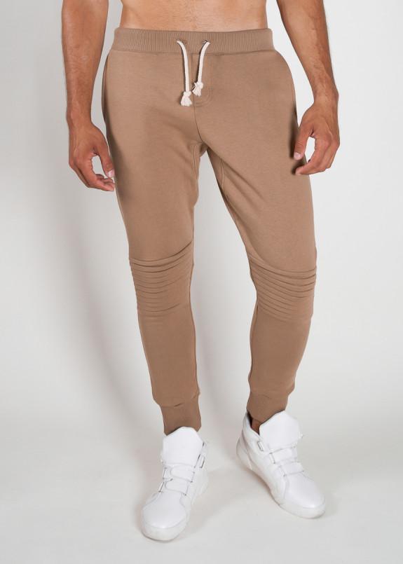 Изображение Спортивные штаны с рифлением на коленях бежевые MFS BRAND