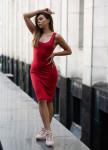 Изображение Платье-майка с открытой спиной красное Gridress