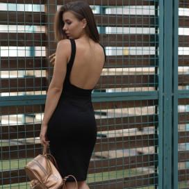 Изображение Платье-майка с открытой спиной черное Gridress
