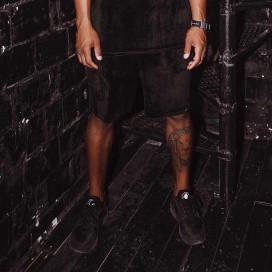 Изображение Шорты мужские велюр черные Black Limit