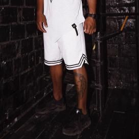 Изображение Шорты мужские с полоской внизу серые Black Limit