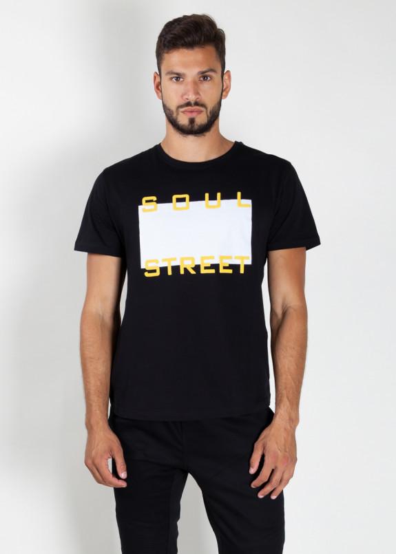 Изображение Футболка мужская черная Soul Street MFStore