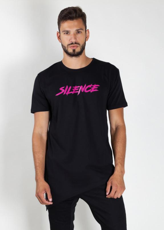 Изображение Футболка мужская черная Silence MFStore