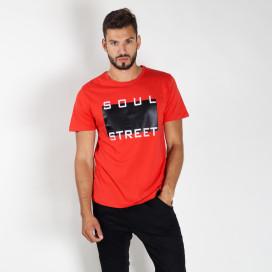 Изображение Футболка мужская красная Soul Street MFStore