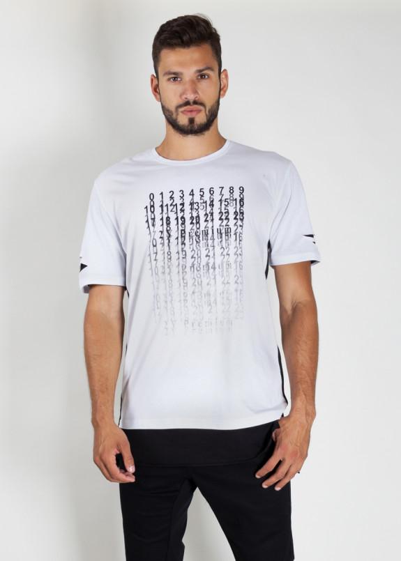Изображение Футболка мужская с принтом белая Цифры MFStore
