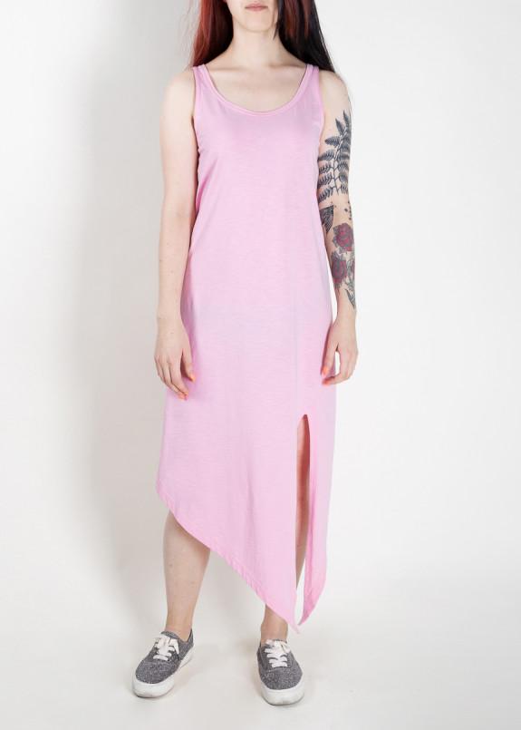 Изображение Платье-майка с асимметричным низом розовое MFS BRAND