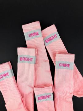 Изображение Носки длинные розовые SHINE BRIGHT SOX
