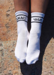 Изображение Носки длинные белые с черной надписью Джаст Чил SOX