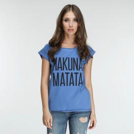Изображение Футболка женская синяя HAKUNA MATATA Marani