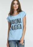 Изображение Футболка женская голубая HAKUNA MATATA Marani