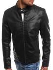 Изображение Куртка мужская из эко-кожи с вставками на плечах черная MFSTORE
