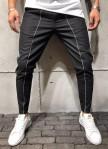 Изображение Черные брюки с белыми строчками MFSTORE