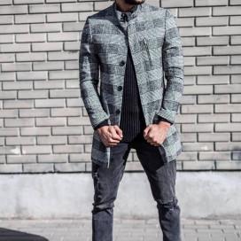 Изображение Мужское пальто в клетку MFSTORE