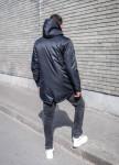 Изображение Черное пальто с плащевки MFSTORE