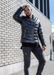 Изображение Стеганая утепленная куртка с ремешком на манжете MFSTORE