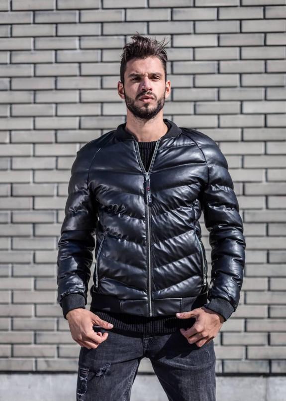 Изображение Стеганая утепленная куртка с  текстильными манжетами MFSTORE