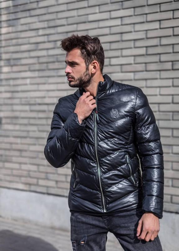 Изображение Стеганая утепленная куртка с диагональными стежками MFSTORE