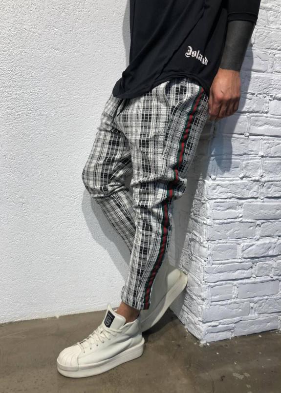 Изображение Серые брюки в клетку с лампасами MFSTORE