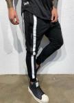 Изображение Чёрные брюки с двумя белыми вставками MFSTORE