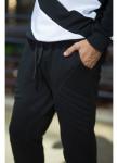Изображение Джоггеры черные с рыфлеными вставками  Nawski