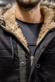Изображение Парка на пуговицах с меховым капюшоном MFSTORE