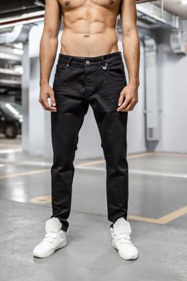 Изображение Классические зауженные черные джинсы MFSTORE