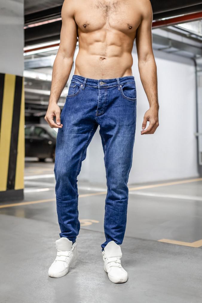 Изображение Классические зауженные синие джинсы MFSTORE