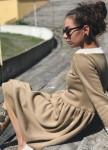 Изображение Бежевое платье на флисе Leska prod