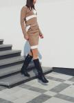 Изображение Бежевая юбка с лампасами Leska prod