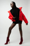 Изображение Куртка оверсайз красная SHE BLACK LIMIT