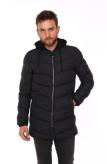 Изображение Куртка утепленная с текстильным капюшоном