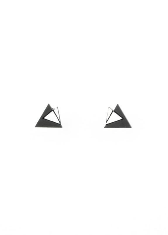 Изображение Сережки-гвоздики двойной треугольник Nebula 7