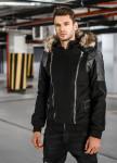 Изображение Замшевая куртка с хутряними капюшоном Mfstore