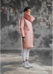 Изображение Пуховик женский ACE высокое горло розовый BLACK LIMIT
