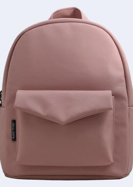 Изображение Персиковый кожаный рюкзак Twins store