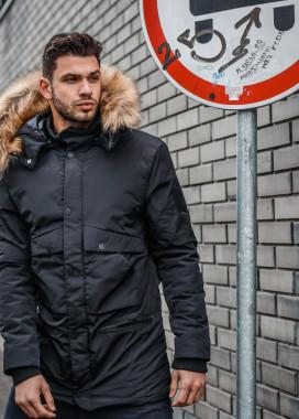 Изображение Куртка с меховым капюшоном и накладными караманами MSTORE