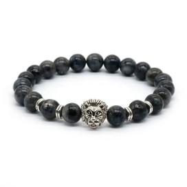 Изображение Браслет из натурального камня темно-серый LEO FASHION