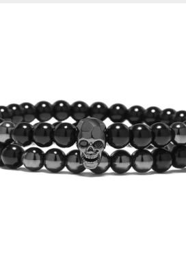 Изображение Двойной браслет с черепом Fashion