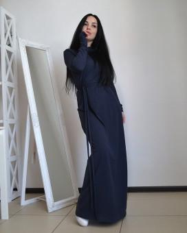 Изображение Трикотажное платье в пол трапецевидного кроя Maro