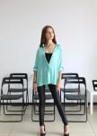 Изображение Рубашка шелковая  с камнями Swarovski Maro