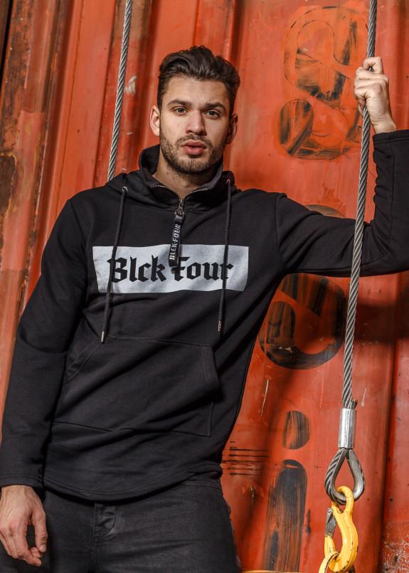 Изображение Худи с надписью BLACK four Mfstore
