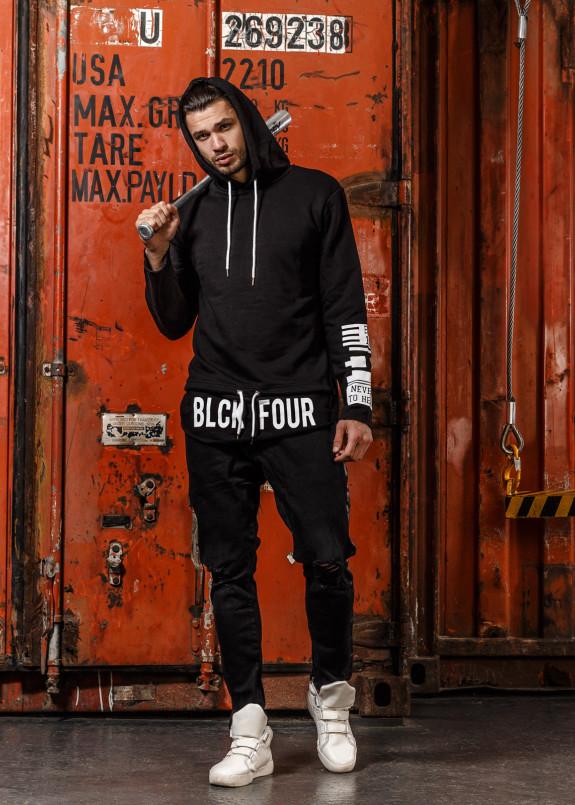 Изображение Кофта с надписью снизу  BLACK four Mfstore