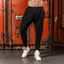 Изображение Спортивные штаны черные с вставками на карманах Mfstore