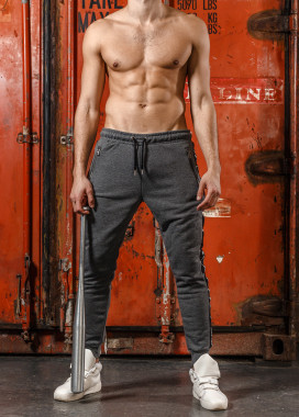 Изображение Спортивные серые штаны с лампасами Mfstore